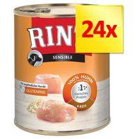 Rinti Zestaw sensible, 24 x 800 g - kurczak z ryżem | dostawa gratis!
