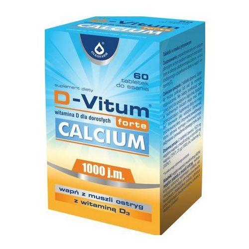 D-Vitum forte Calcium (Witamina D3 1000IU + Wapń z ostryg) 60 tabl