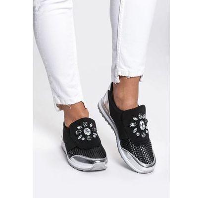 6c127908 sneakers na koturnie czarno biale w kategorii: Damskie obuwie ...