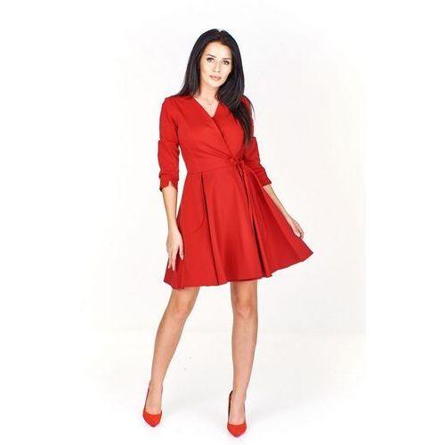 Zakładana sukienka z długim rękawem (5903093949391)