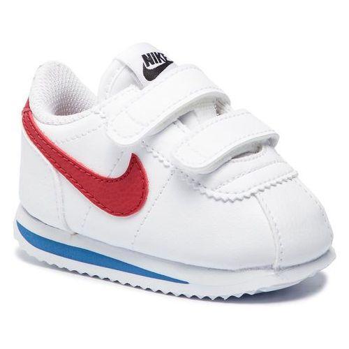 Nike Buty - cortez basic sl (tdv) 904769 103 white/varsity red