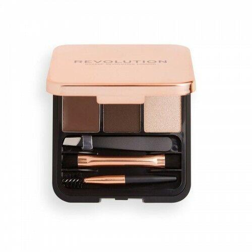 Zestaw do brwi brow sculpt kit dark Makeup revolution - Ekstra oferta