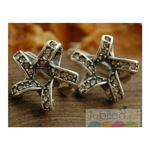 SPIRALA - srebrne kolczyki z cyrkoniami