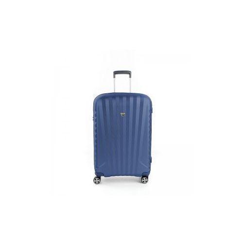 dc251651d5f31 ... kolor niebieski. Walizka podróżna średnia twarda, 4 kółka, 72 litry,  zamek tsa, policarbon marki