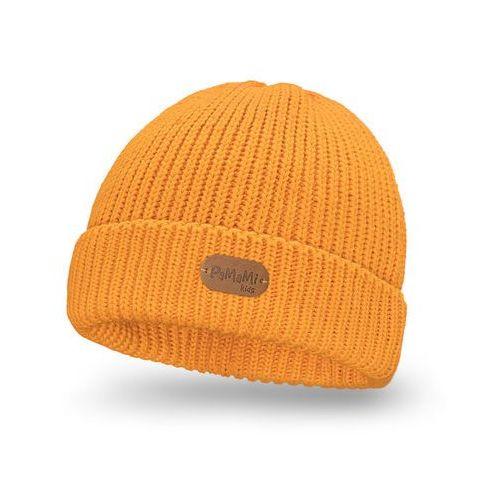 Zimowa czapka dziewczęca PaMaMi - Miodowy - Miodowy