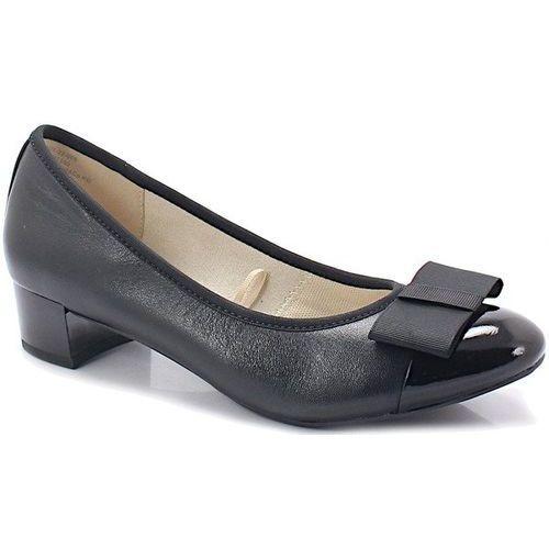 Caprice 9-22307-22 czarne - miękkie czółenka - czarny