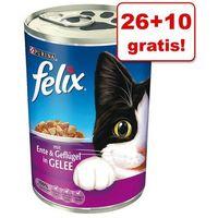 26 + 10 gratis! Felix w puszkach, 36 x 400 g - Kąski w galarecie, łosoś z pstrągiem