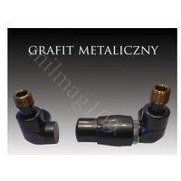 Zestaw zaworów grzejnikowych termostatycznych lux prawy grafit marki Mera term