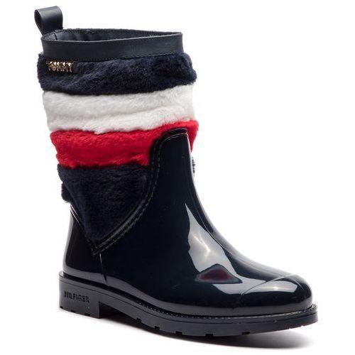 c64b5d4922fa1 Kalosze - corporate faux fur rain boot fw0fw03616 midnight 403 marki Tommy  hilfiger - Galeria produktu