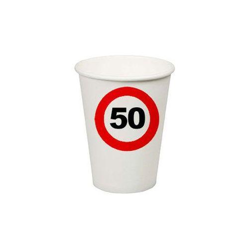 Kubeczki Znak zakazu 50tka - 200 ml - 8 szt