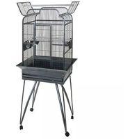 Strong Klatka dla papug Villa Andrea, srebrno-szara, 68x55x160 cm (8717438860503)