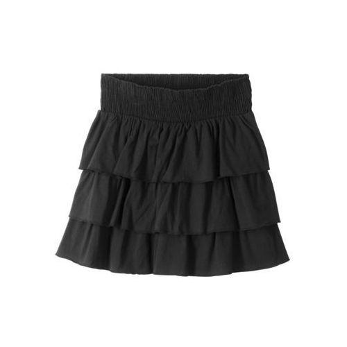 Spódnica z falbanami bonprix czarny