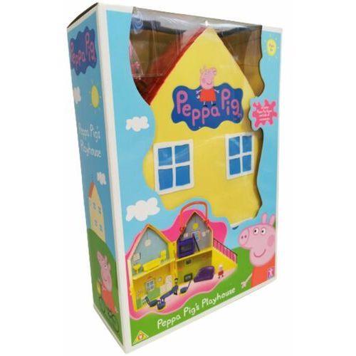 Tm-toys Rozkładany domek peppy z figurką peppy + akcesoria rek tv