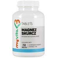 Tabletki Magnez skurcz (Cytrynian Magnezu + Potas +Witamina B6) (MyVita) 250 tabl.