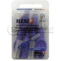 flexi 6szt. box 1.20-8.0mm (fioletowe) - pudełko 6 szczoteczek międzyzębowych (medium) marki Tandex