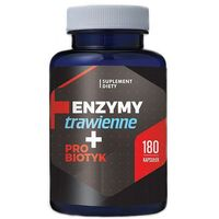 Enzymy Trawienne + Probiotk 180 kaps – skuteczne trawienie – HEPATICA