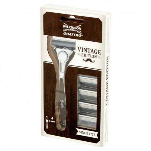 Wilkinson Sword - Quatro Vintage With Wood Effect Handle maszynka +...,259 - Świetny upust