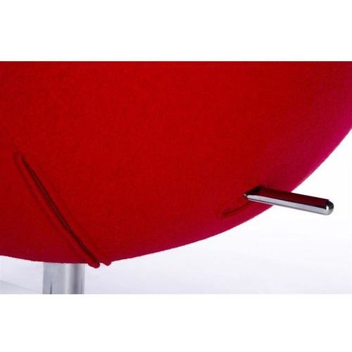Fotel EGG SZEROKI czerwony.1 - wełna, podstawa stal (5900168802407)