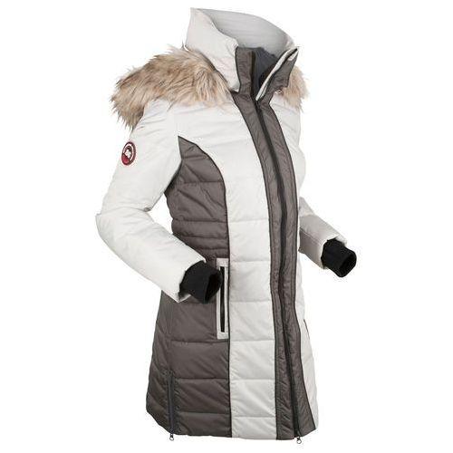 Płaszcz outdoorowy bonprix srebrny, poliester