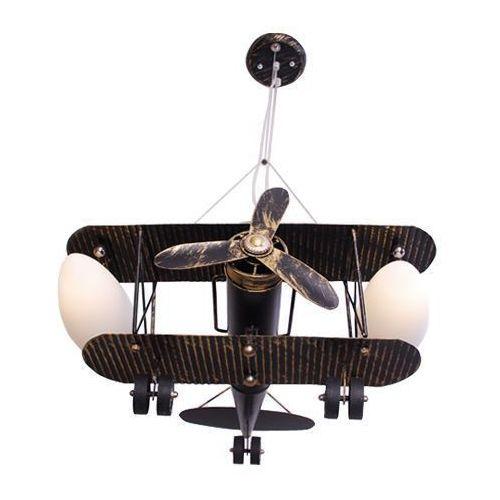 Lampa dziecięca sufitowa wisząca Samolot Dwupłatowiec