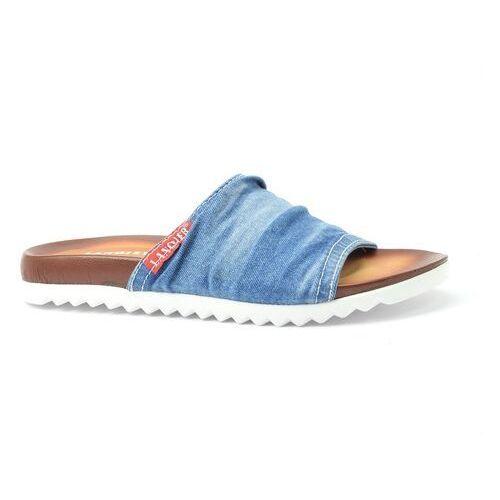 Klapki Lanqier 40C286 jeans, w 5 rozmiarach