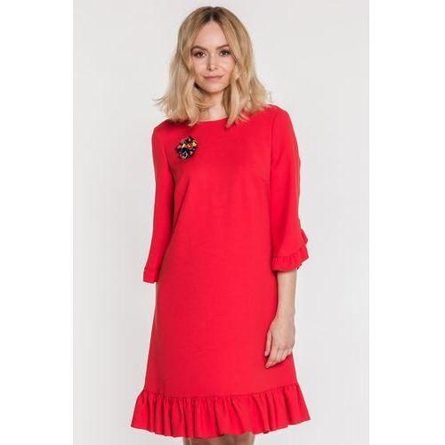 26fa3f0dfb Zobacz ofertę Czerwona sukienka z falbanką Arize - L  39 ame de Femme