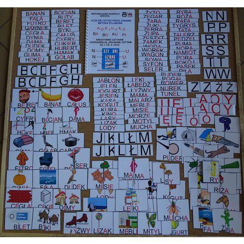 Kreatywne czytanie - dopasowuję, układam, czytam cz.I,cz.II, cz.III - wersja wielkie litery drukowane