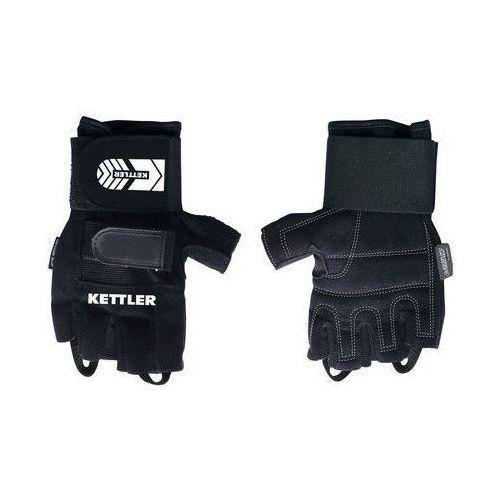 KETTLER - 7371-437 - Rękawiczki treningowe Pro dla mężczyzn (L) - L, kolor czarny
