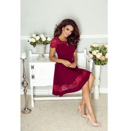Elegancka sukienka z koronkowymi wstawkami, Ptak moda, 36-42