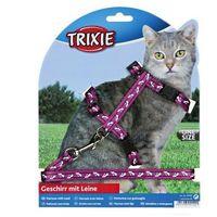 Trixie szelki dla kota nylonowe regulowane z nadrukiem