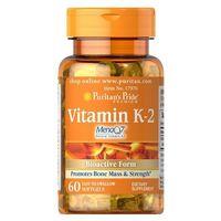 Puritan's Pride Witamina K2 (MenaQ7® menachinon-7) 50µg 60 kaps.