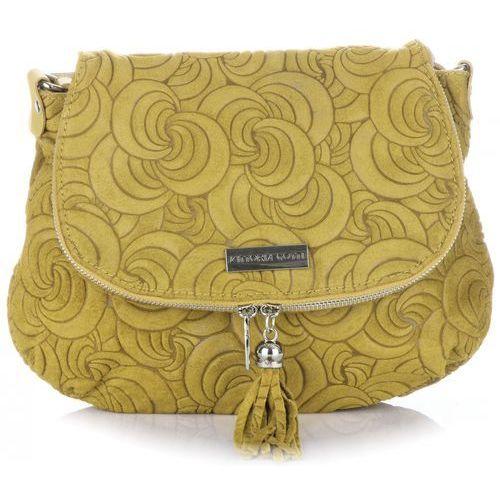 e9ec06e38656b Vittoria gotti Modne torebki skórzane listonoszki made in italy żółta  (kolory) - zdjęcie produktu