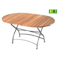 Owalny stół ogrodowy