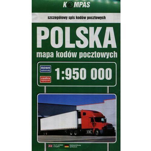 Polska mapa kodów pocztowych 1:950 000 - Wysyłka od 3,99 - porównuj ceny z wysyłką (2013)