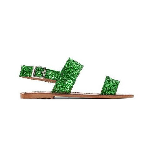 afac3fb3b7d82 ▷ Sandały skórzane na płaskim obcasie Glitter (JONAK) - ceny,rabaty ...
