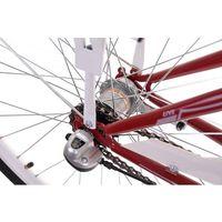(K24) Rower miejski damski Kozbike 28 morsko biały 3B KOZBIKE_CZARNE_OPONY (kolory) 3B (28) KOSZ I WKŁADKA (-30%)