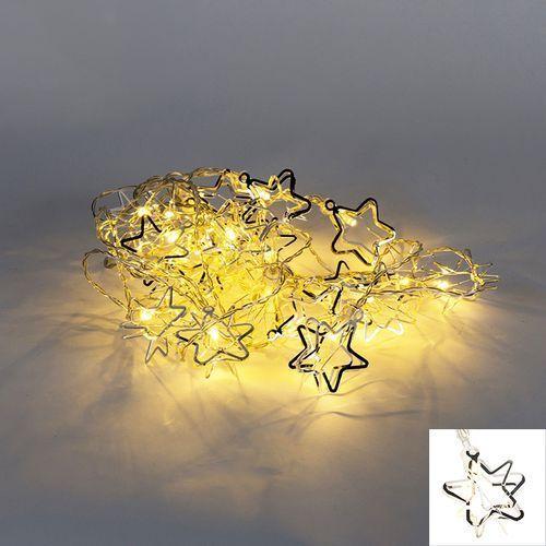 Oswietlenie swiateczne lancuch swietlny ster 20 led barwa cieplo biala 3,8 m Diverse
