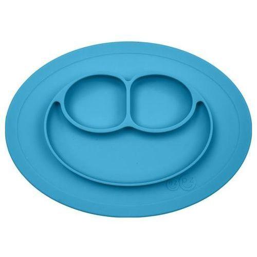 Silikonowy talerzyk z podkładką 2w1 mini mat - niebieski Ezpz