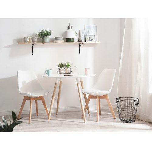 Stół Do Kuchni Biały 90 Cm Stół Do Jadalni Lub Salonu Bovio Beliani