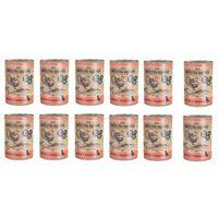 Wiejska zagroda zestaw dorsz z indykiem 10+2 gratis = 12 x 400g karma w puszce dla psów (5906874201442)