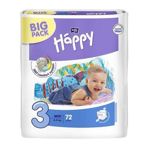 Pieluszki Bella Baby Happy Pieluszki Midi Big Pack 72 szt., BB-054-MU72-001