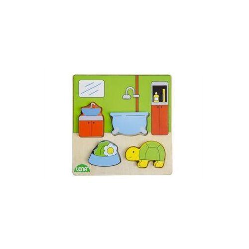 Lena Vkládačka/puzzle dřevěné koupelna v krabičce 14x20x2cm 18m+ (4006942837601)