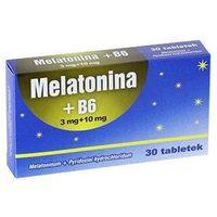 Tabletki MELATONINA+B6 3mg + 10mg x 30 tabletek