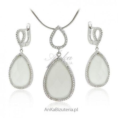 Anka biżuteria Ankabizuteria.pl biżuteria ślubna _ komplet biżuterii z białymi kamieniami