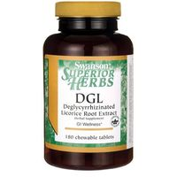 Tabletki Swanson DGL (Ekstrakt z korzenia Lukrecji) 385mg 180 tabletek do ssania