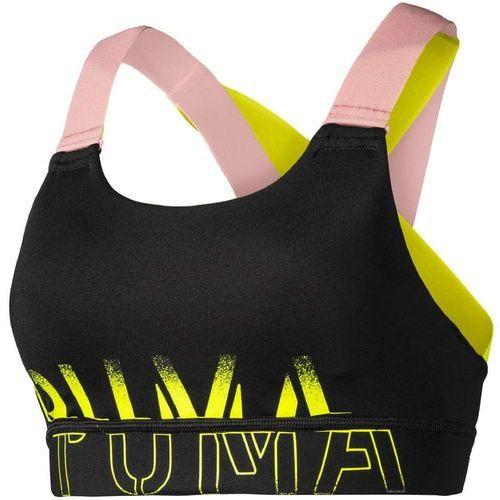 PUMA Biustonosz sportowy 'Feel It Bra M' żółty / różowy pudrowy / czarny (4060981258650)