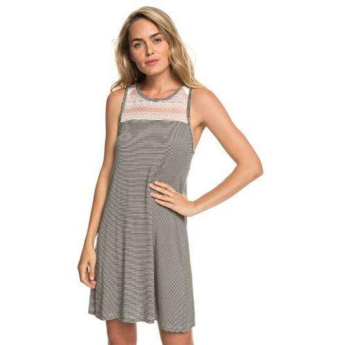 Sukienka - what lovers do anthracite cosy stripes (kvj4) rozmiar: s, Roxy