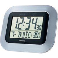Zegar ścienny Techno Line WS 8005 Sterowany radiowo, Srebrny, (SxWxG) 228 x 180 x 28 mm (4029665080055)