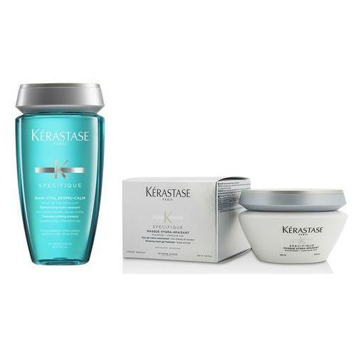 Kerastase zestaw do włosów wrażliwych | dermo-calm vital bain 250ml, hydra-apaisant mask 200ml