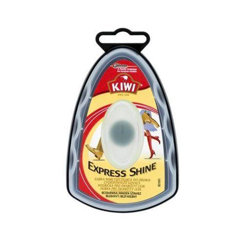 Kiwi express shine bezbarwna gąbka nabłyszczająca do obuwia